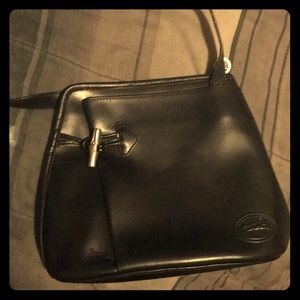Lonchamps Paris vintage leather tote